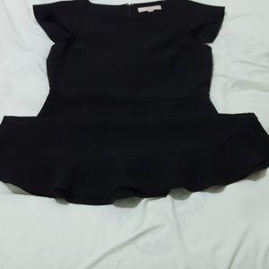 LOFT Dresses - LOFT Flutter Flounce Black Dress
